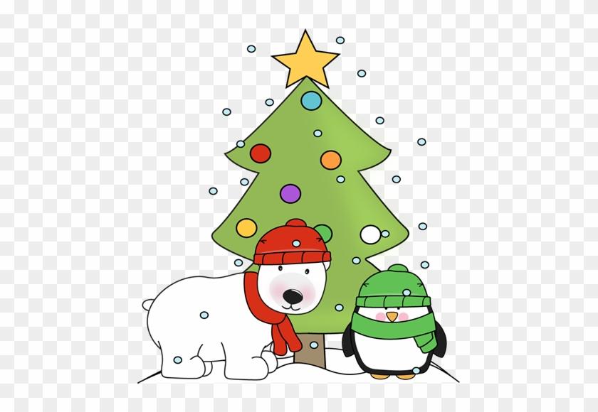 Christmas Clip Art Penguin, Polar - Christmas Polar Bear Penguin #169286
