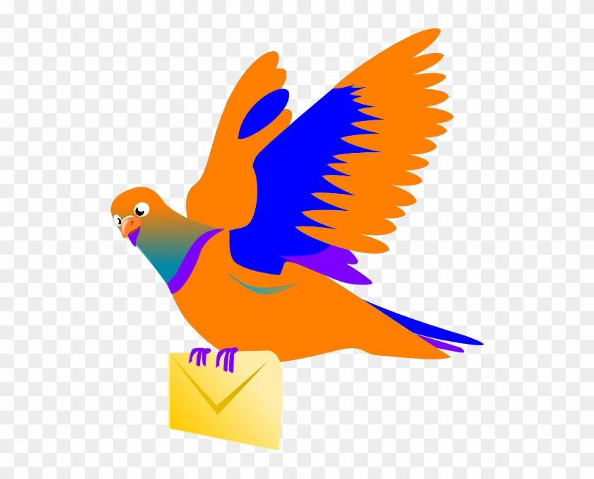 Email Message Bird Clip Art At Clker Com Vector Clip - Bird Message Png #169327