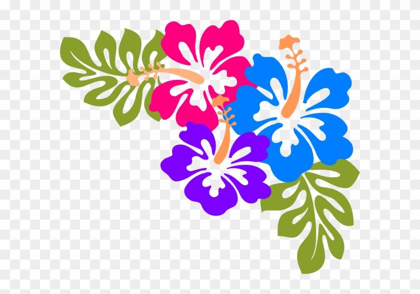 Free Luau Clip Art Clipart - Hawaiian Flowers Transparent Background #169379