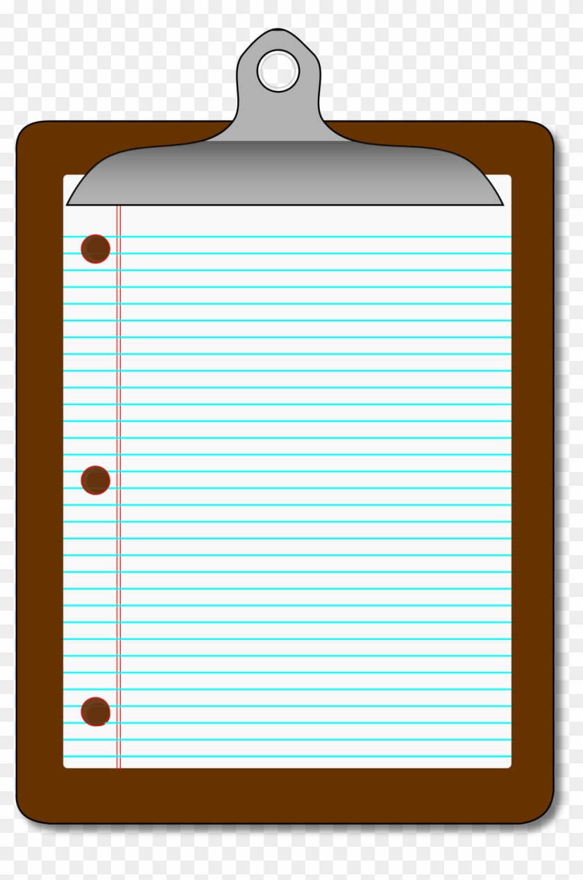 big image - clipboard with lined paper - free transparent png