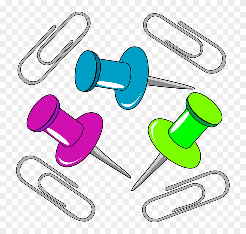 Paper Clips Free Images On Pixabay Clipart - Office Supplies Clip Art #169502