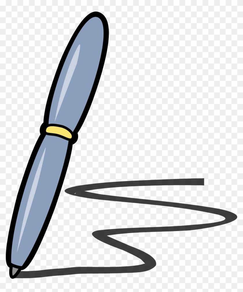 big image - pen on paper cartoon - free transparent png clipart