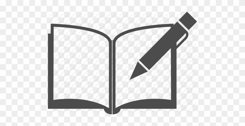 Book - Clipart - Book And Pen Icon #169601