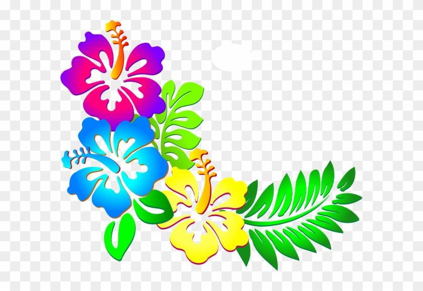 Hibiscus Clipart Wallpaper - Hawaiian Flower Border Png #169611