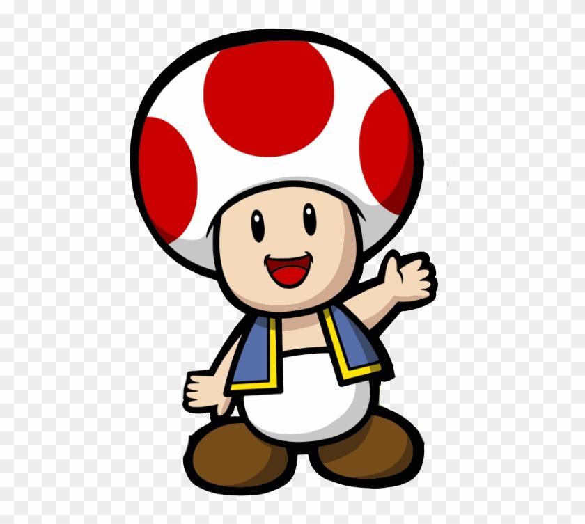 Covered Clipart Paper Mario - Super Paper Mario Toad #169620