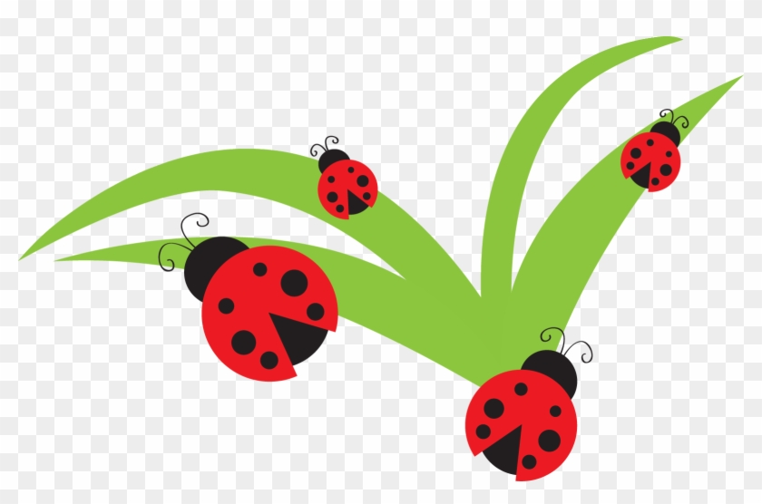 Free Digital And Printable Ladybug Scrapbooking And - Ladybugs On Flowers Clipart #169625