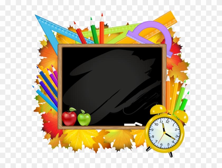 School, Pencils, Tubes, - Crayon Frame Png Clipart #169655
