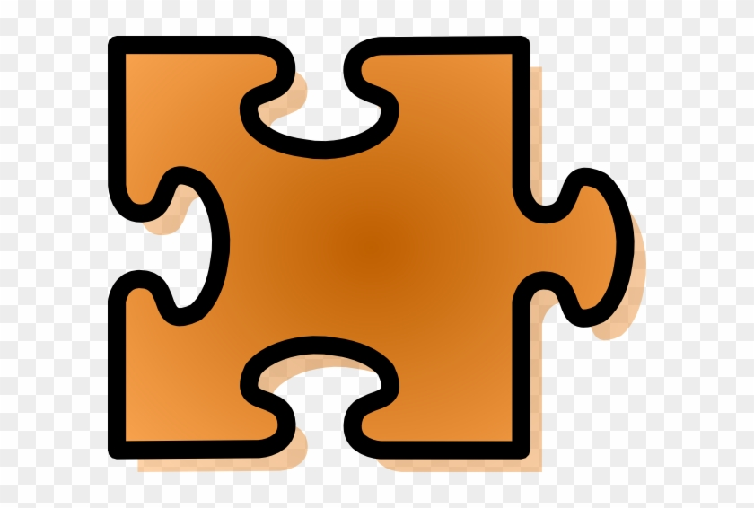Orange Jigsaw Puzzle Piece Clipart - Jigsaw Puzzle Pieces Clipart #169723