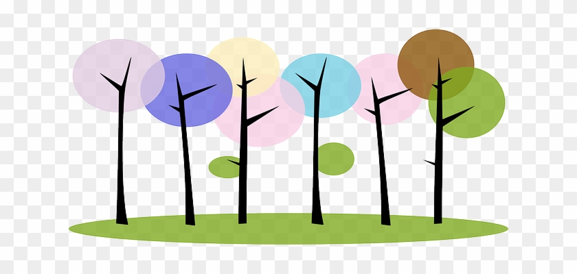 Forest, Trees, Nature, Plants, Abstract - Colorful Tree Clipart #907352