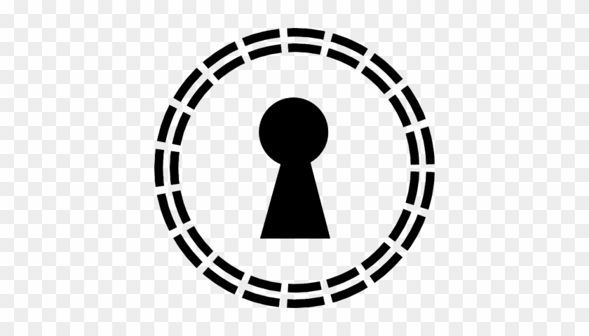 Keyhole Shape In A Circle Of Small Lines Vector - Primevision Logo #907359