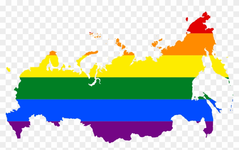 The Lgbt Flag Map Of Russia - Russia Lgbt Map #907467