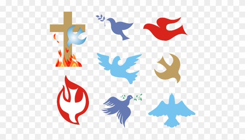 Christianity Symbols Illustrated Glossary - 8 Symbols Of The Holy Spirit #907607
