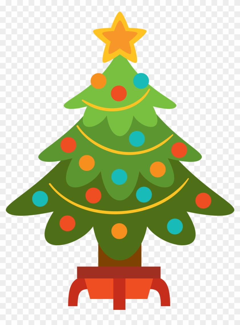 Red And Gold Christmas Tree Clipart Christmas Tree Christmas Day