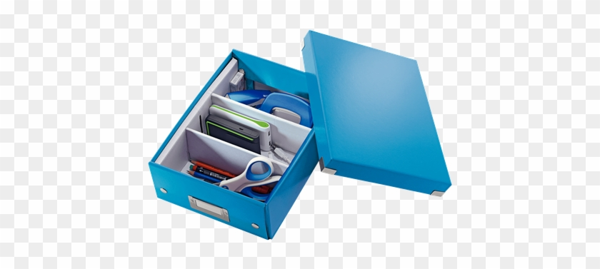 Organiser Box With 2-3 Flexible Compartments - Leitz Click & Store Small Organiser Box Blue #908069