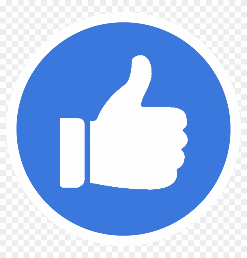 Facebook Like Button Computer Icons Thumb Signal - Facebook Messenger Round Icon #908210
