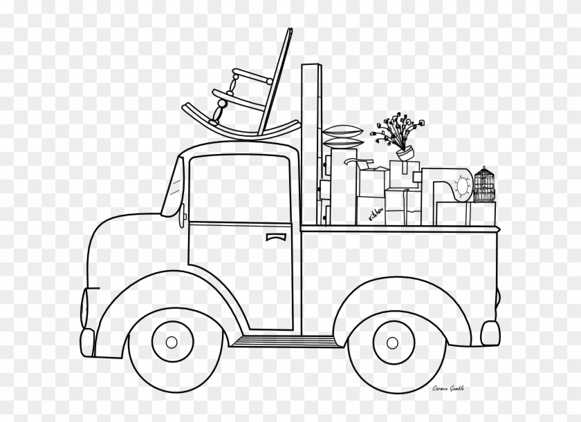 Little Blue Truck Coloring Pages Movingday 609531 Pixels - Coloring Pages Moving Day #910987