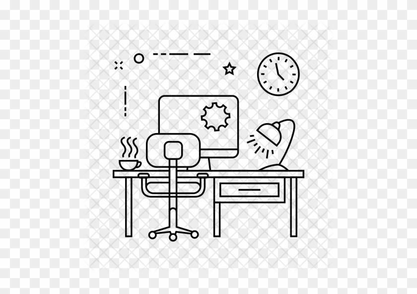 Desk Icon - Outdoor Bench #911000