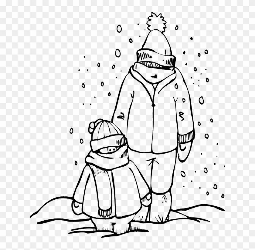Homeschool - Winter Clothing Coloring Pages - Free ...