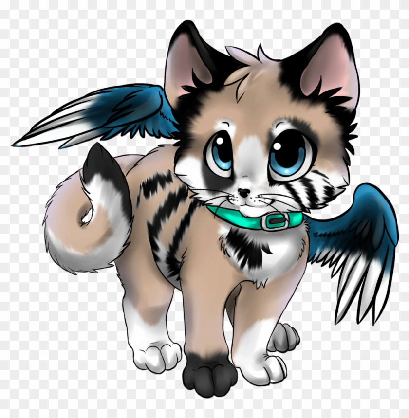 Winged Kitten Adoptable - Anime Kitten With Wings #911248