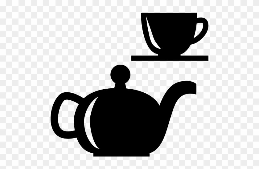 Tea Set Free Icon - Tea Has Less Caffeine Than Coffee #911258