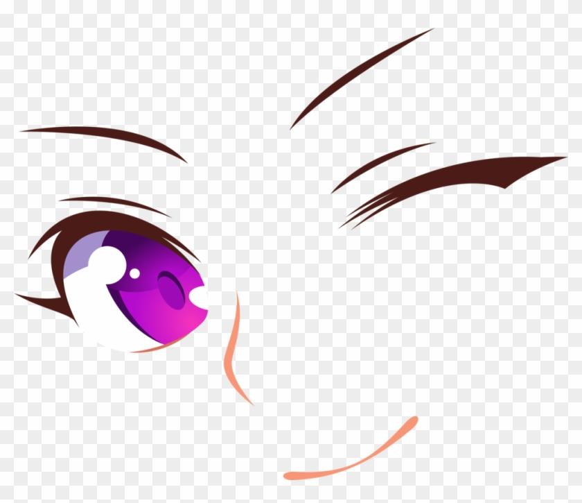 Purple Eyes Smile Wink