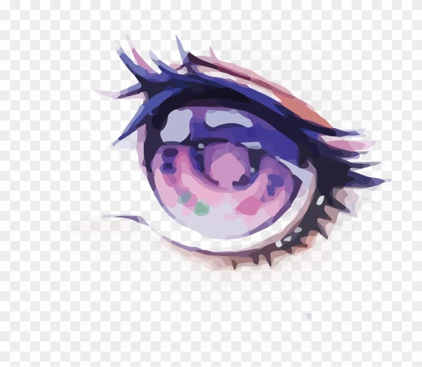 Eye Watercolor Painting - Anime Watercolor Eye #912835