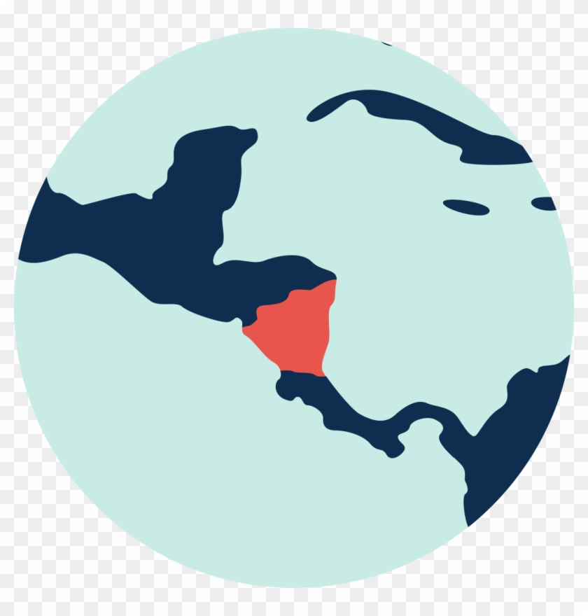 Nicaragua - Jamaica On World Map - Free Transparent PNG Clipart ...