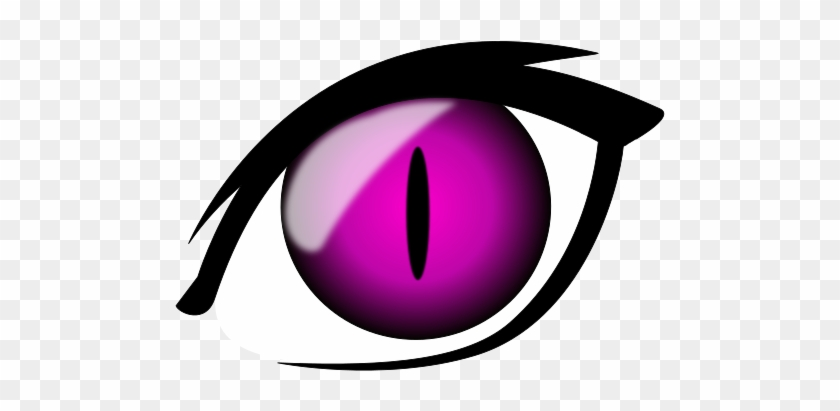 Anime Clipart Pink Cat - Yellow Cat Eyes Transparent #913091