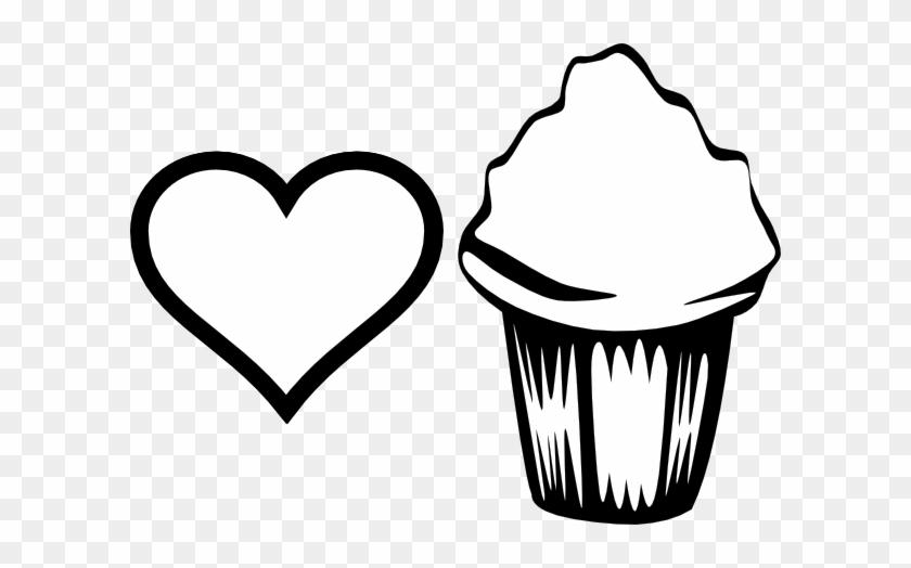 Cupcake Con Corazon Para Colorear Free Transparent Png