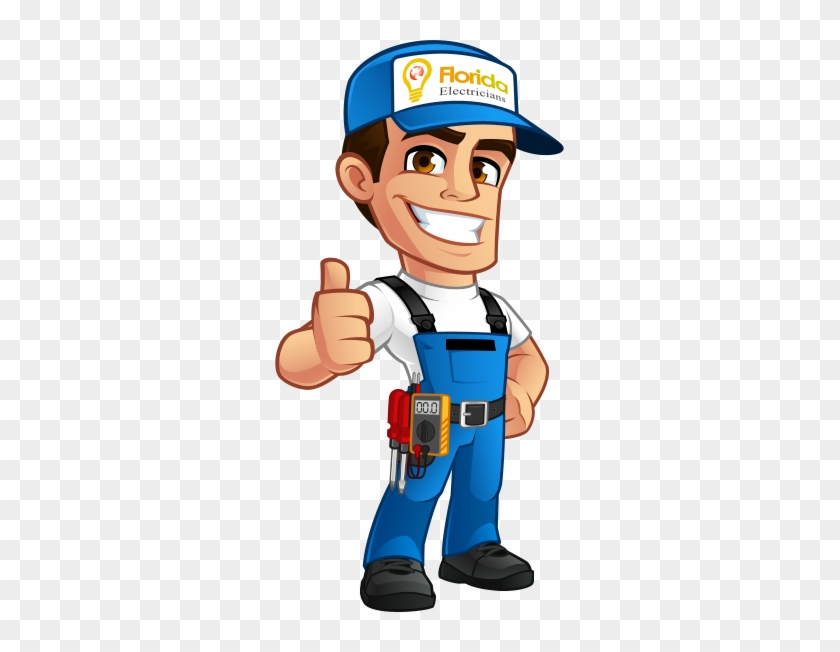 Electrician In Safety Gear - Solar Panel Cartoon #914777