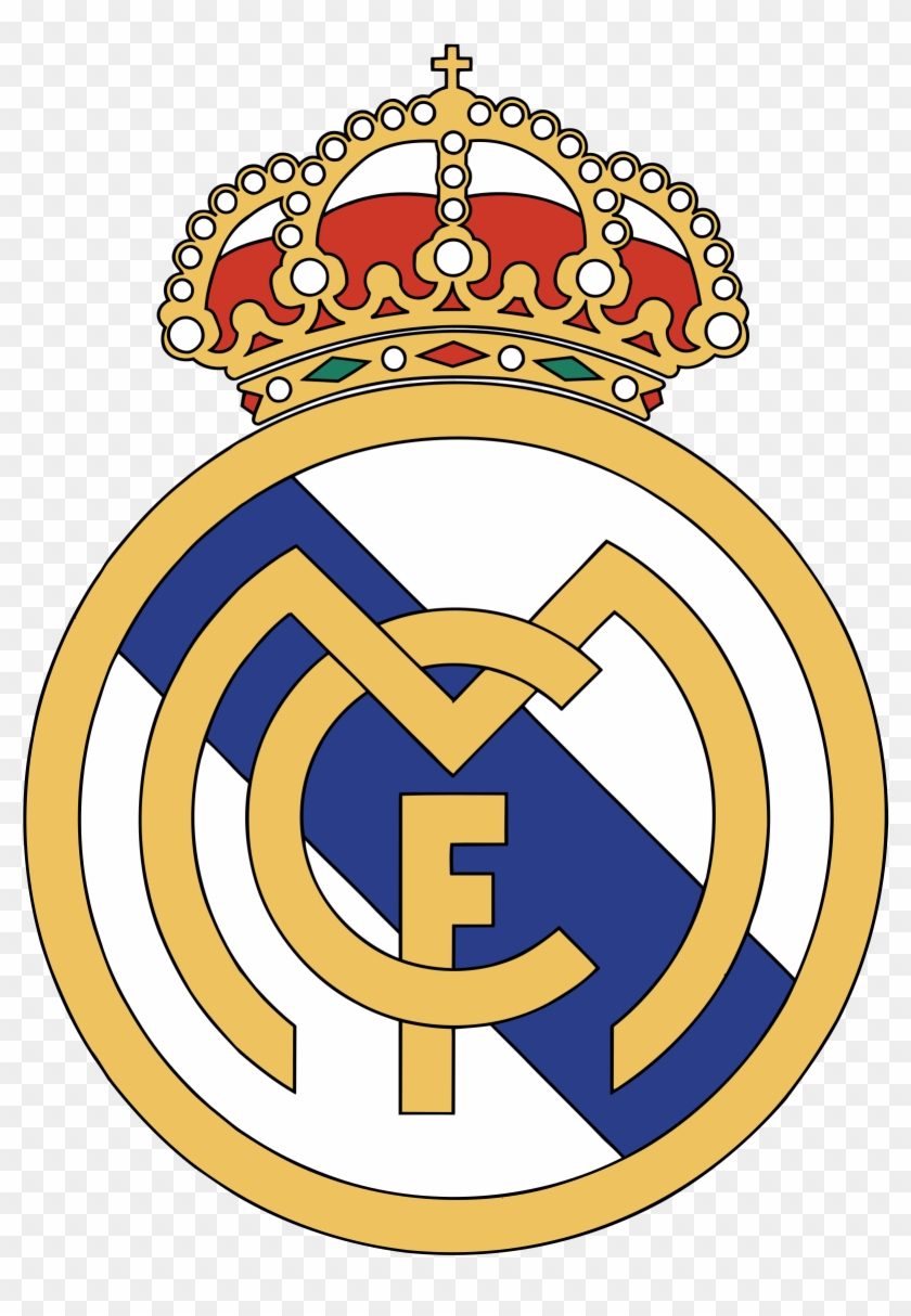Real Madrid C F Logo Black And White Real Madrid Logo Png Free Transparent Png Clipart Images Download