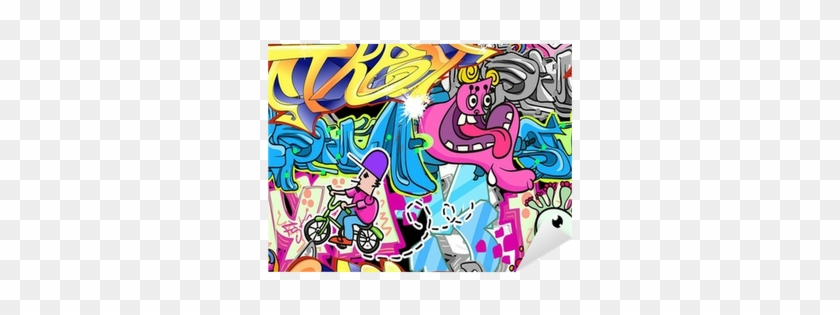 Graffiti Urban Art Vector Background Sticker • Pixers® - Urban Art #915413