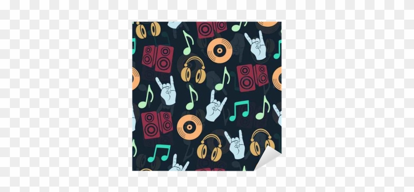 Musical Vector Background, Music Accessories Seamless - Audifonos Dibujo En Blanco Y Negro #915417
