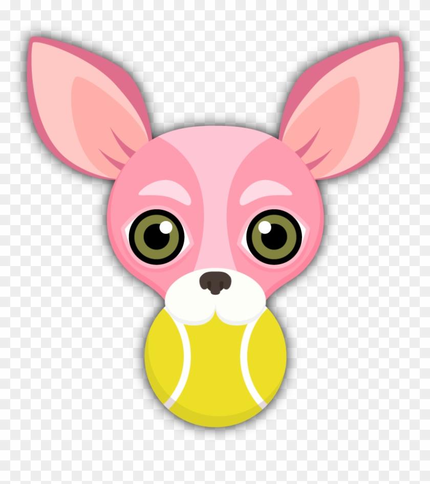 Pink Valentine's Chihuahua Emoji Stickers On The App - Cartoon