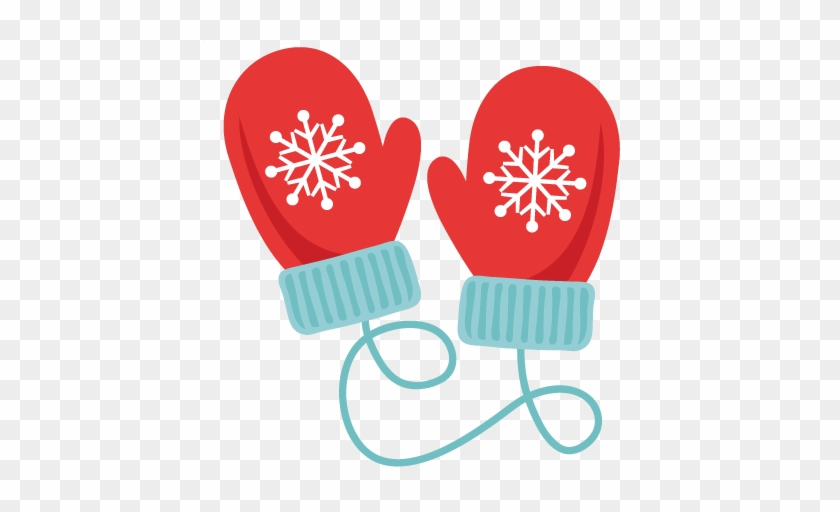Winter Mittens Svg Scrapbook Cut File Cute Clipart - Christmas Mittens Clipart #915628
