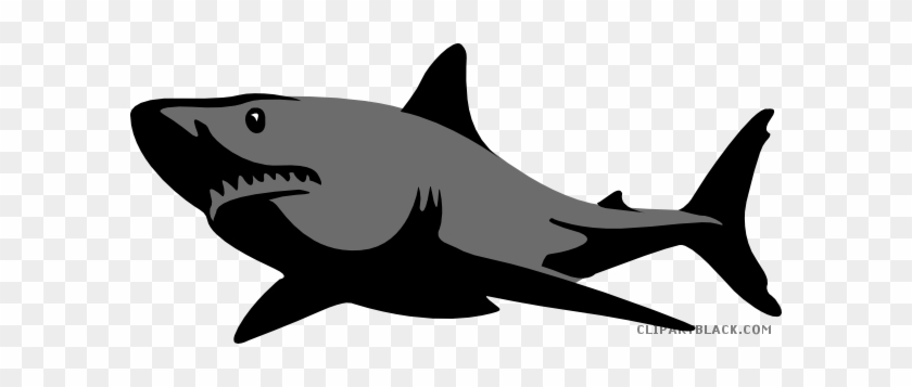 Impressive Shark Animal Free Black White Clipart Images - Great White Shark Silhouette #915850