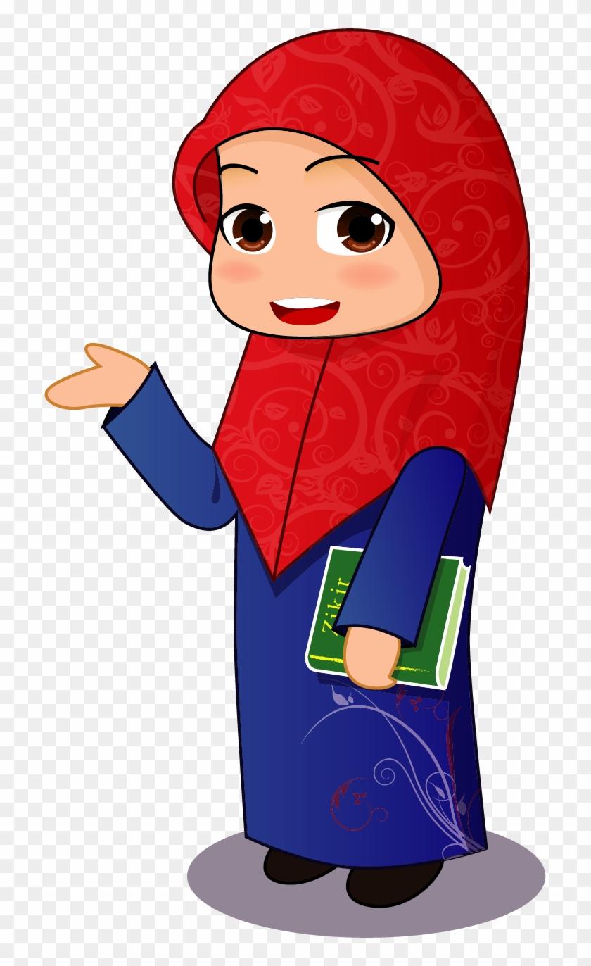 Muslim Islam Hijab Clip Art - Muslim Girl Cartoon #916171
