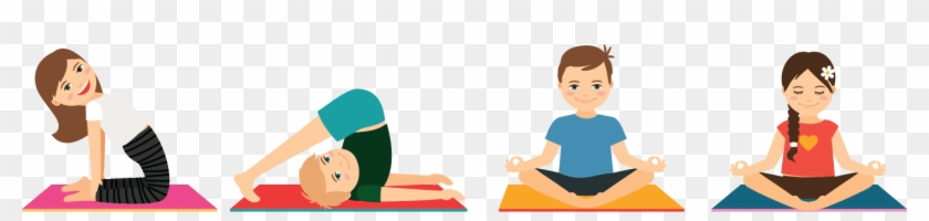 Yoga For Children And Teenagers Clip Art Free Transparent Png Clipart Images Download