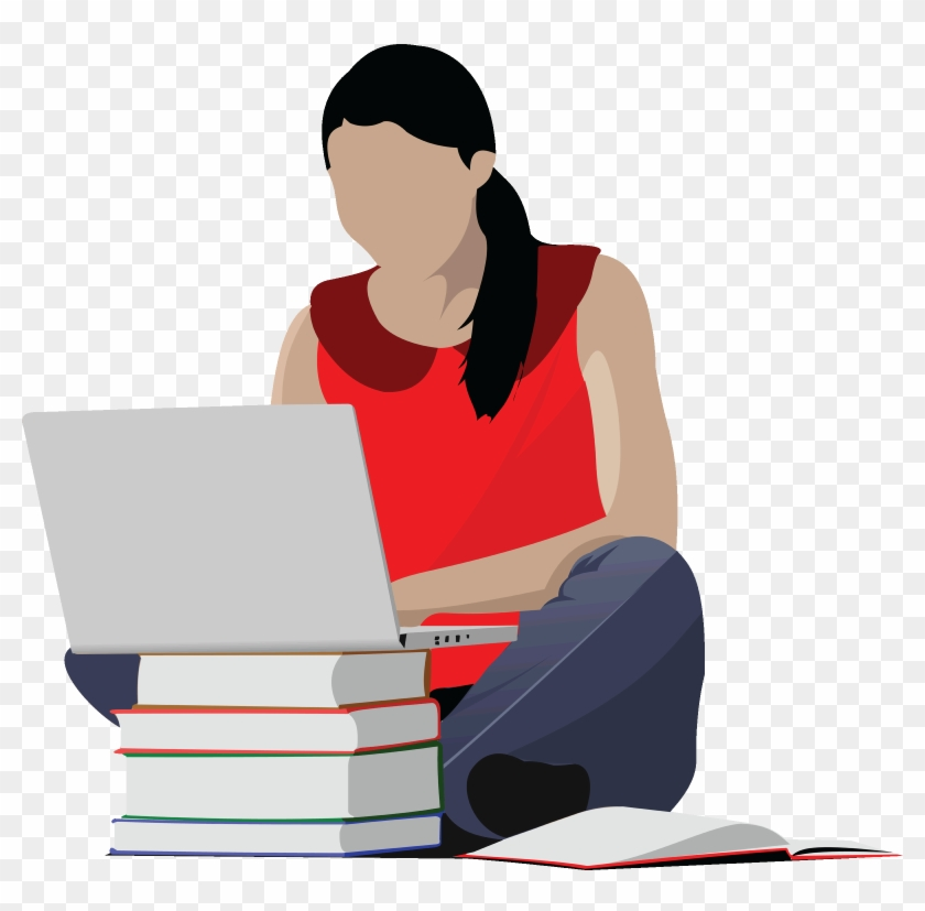 Person Studying Cliparts - College Student Clipart #918336