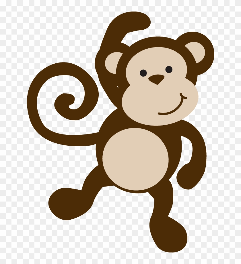 Cute Jungle Animal Clip Art Digital Clipart Baby Monkey, - Baby Monkey Template #918826