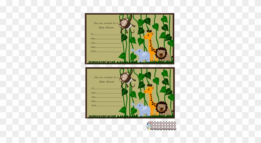 If You Are Having A Jungle, Zoo, Or Baby Animals Theme - Baby Shower Invitations Jungle Theme #919642