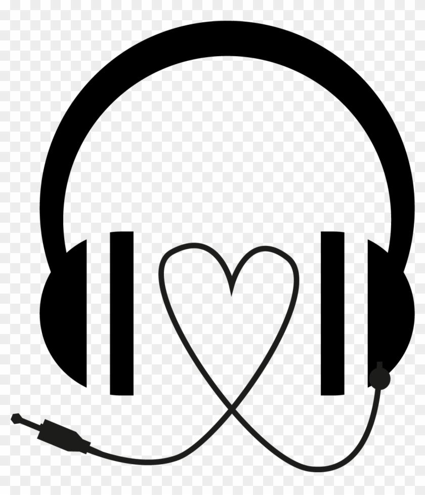 Organs Clipart Music Radio - Vector Illustration Of Black Headphones ...