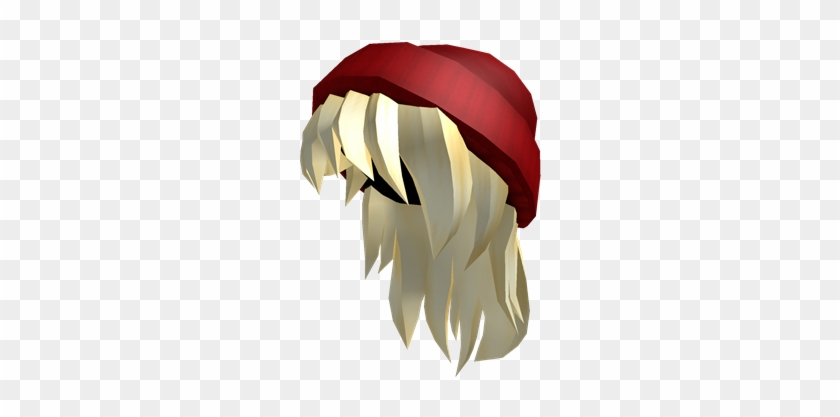 Red Beanie Blone Hair Roblox Free Girl Hair Free Transparent Png Clipart Images Download