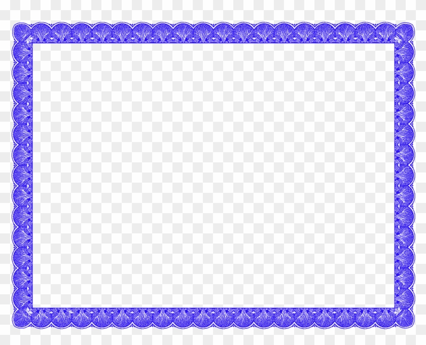 blue fancy certificate border certificate border template png