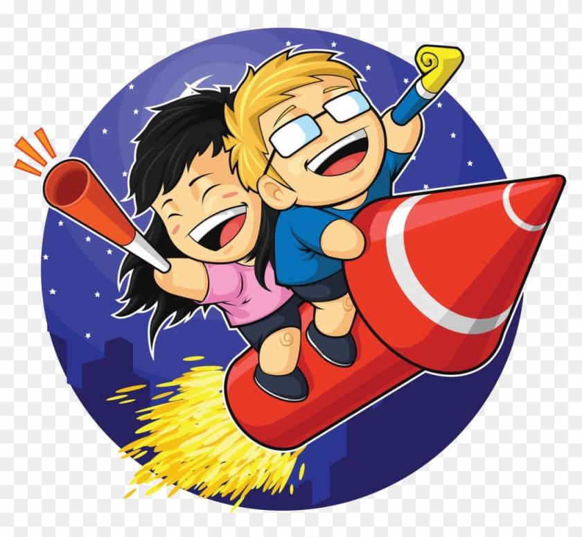 Cartoon Fireworks Firecracker Clip Art - Firework Cartoon #921573