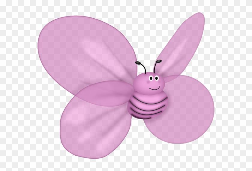 Butterfly Drawing Bee Scrapbooking Clip Art - Objetos De Color Morado #922401