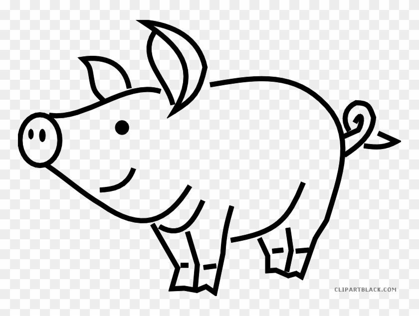 Pig Outline Animal Free Black White Clipart Images - Dont Go Bacon My Heart #922553