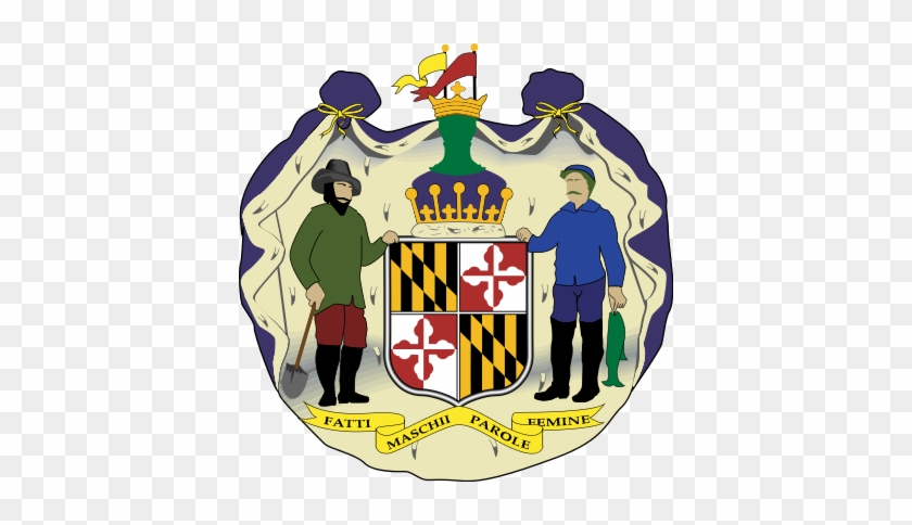 The Coat Of Arms Of Maryland - Maryland State Coat Of Arms #923055