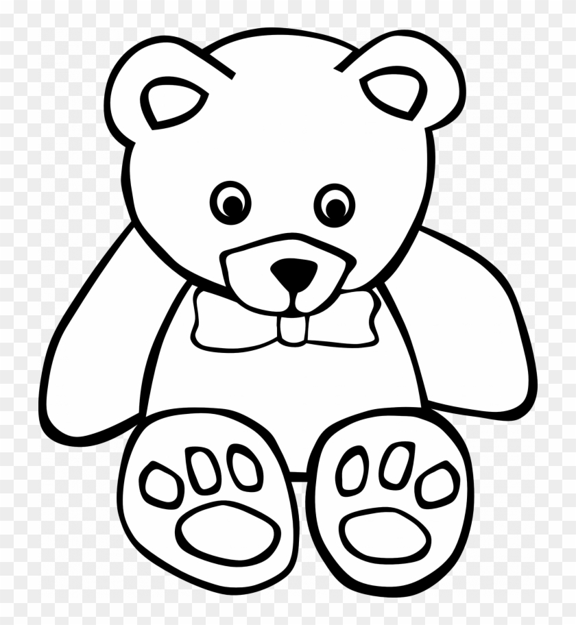 Cute Teddy Bear Coloring Pages Clip Art