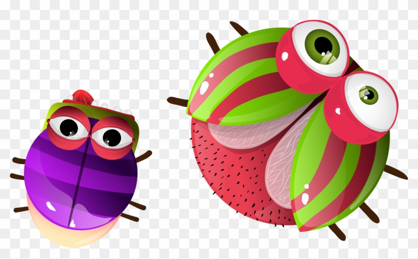 insect drawing animation cute cartoon ladybugs free transparent